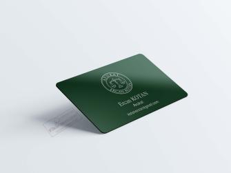 Koyu Yeşil Avukat Kartvizit Tasarımları