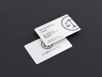 Tek Renk veya Altın, gümüş yaldız seçenekli avukat kartvizitleri