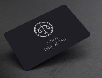 Özel üretim avukat kartvizitleri