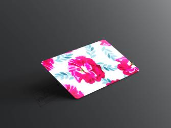 Floresan Çiçek Desenli Kartvizit