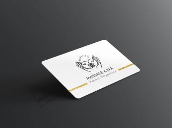Masaj spa merkezleri için düzenlenen kartvizit örnekleri