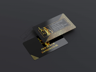 Altın motifli kartvizit