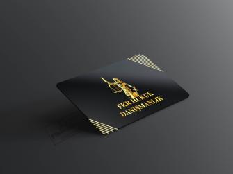 Gold Renkli Siyah Kartvizit Çizgi desenli