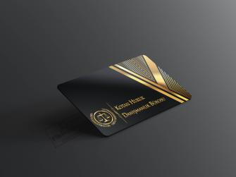 Siyah ve Gold Renk Avukat Kartvizit