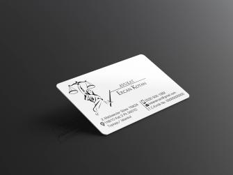 Kurumsal Avukat Kartvizitleri >>500 Adet Özel Üretim 400gr. Çift taraflı Kabartma Laklı, Oval Kesimli Lüks Baskılar