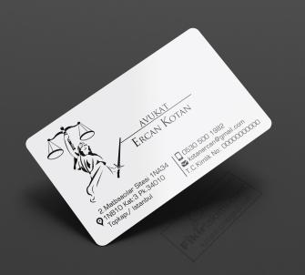 Kurumsal Avukat Kartvizitleri >>1000 Adet Standart Kartvizit