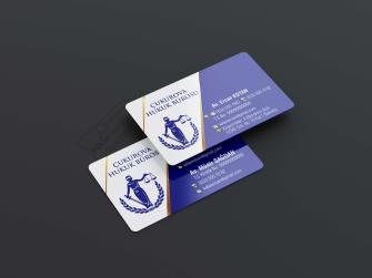 Çift taraflı kartvizit >>1000 Adet KALIN KARTVİZİT (Tavsiye) Çift yüz Kabartma Laklı Oval Kesim Kartvizit