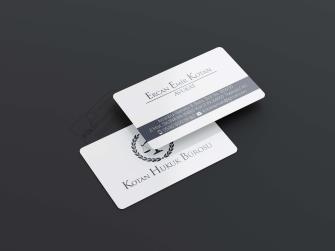 Avukat Arabulucu Kartvizitleri >>500 Adet Özel Üretim 400gr. Çift taraflı Kabartma Laklı, Oval Kesimli Lüks Baskılar