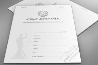beyaz zeminli büro dosya tasarımları