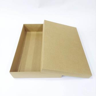 40x26x8 Kapaklı Kraft Kutu- Asgari 10 Adet içindir