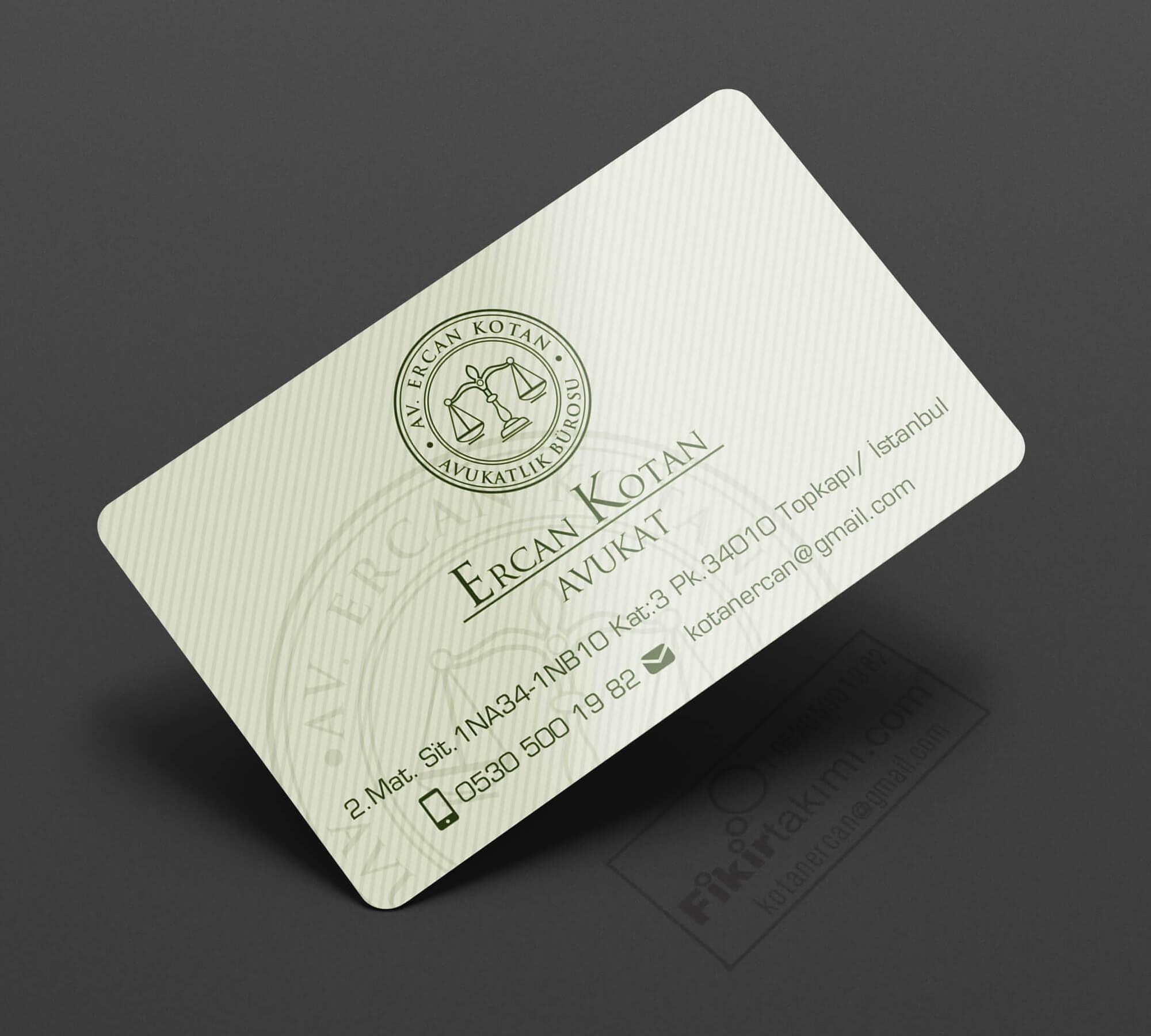 premium modern avukat kartvizit