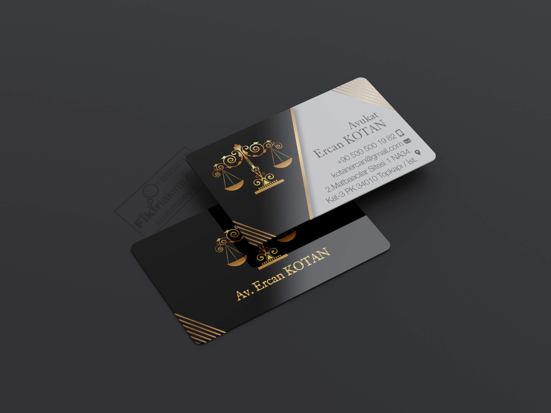 Altın sarısı avukat kartvizit