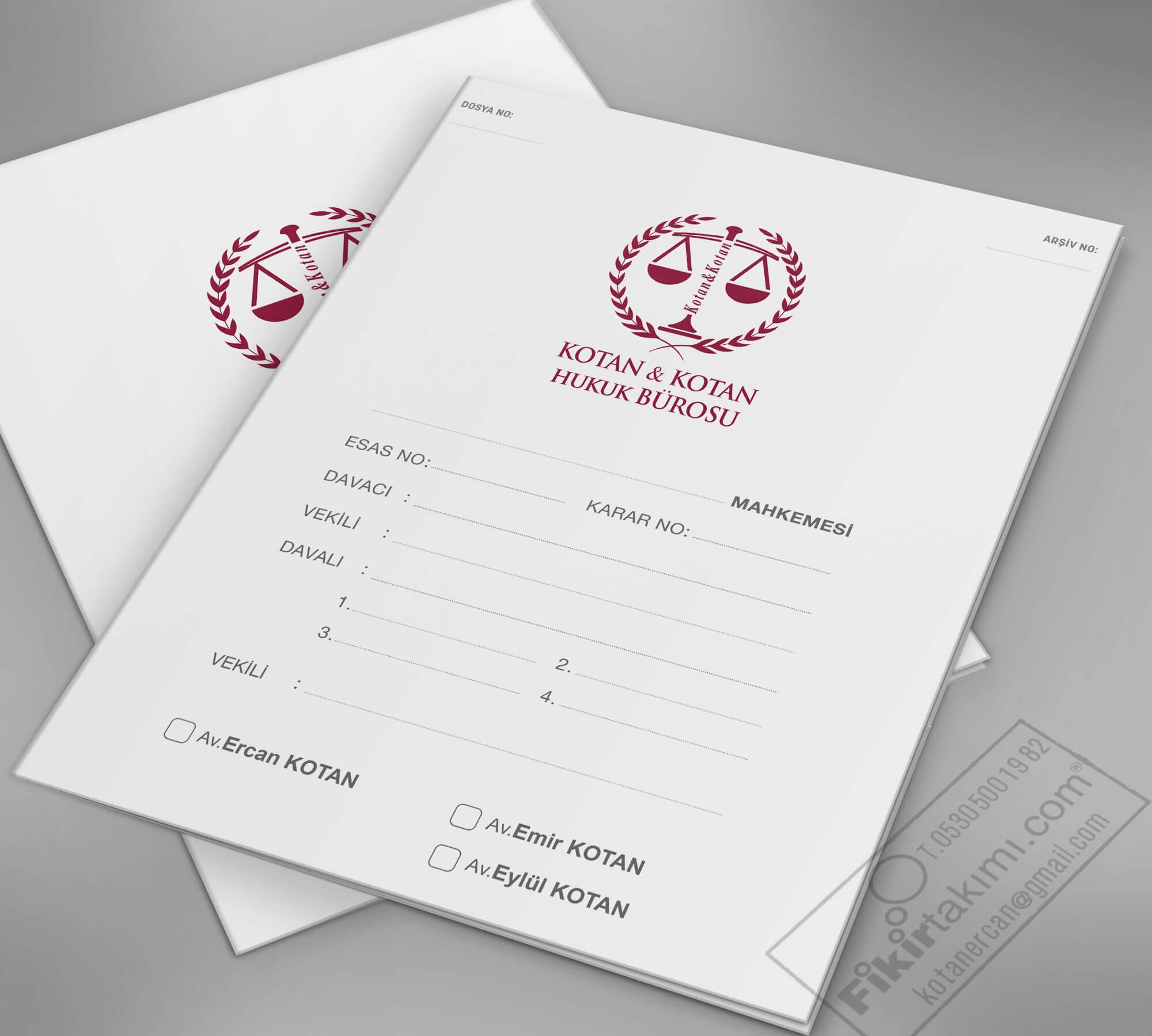 Beyaz Zemin, Mahkeme Dosya, İcra Dosya, Büro Dosya