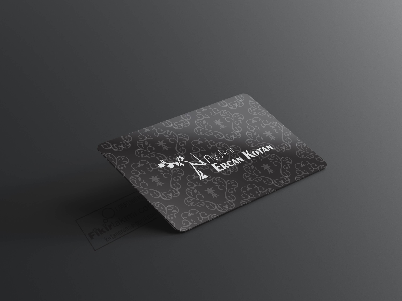 Siyah Zeminli Kartvizit