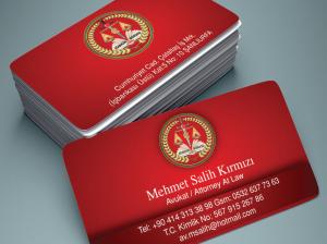 Özel tasarım avukat kartvizit örnekleri (500 adet)