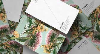 Minimal Çiçekli Kartvizitler (500 adet)