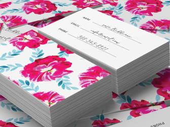 Floresan Çiçek Desenli Kartvizit (500 adet)