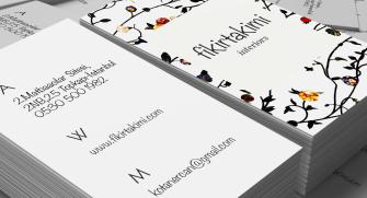 Kaliteli sıradışı kartvizitler (500 adet)