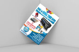 Toner Kartuş Dolum Merkezi Broşür Baskısı, El ilanı (500 adet)