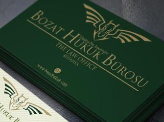 Bozatlı Hukuk Bürosu kartvizit tasarımı