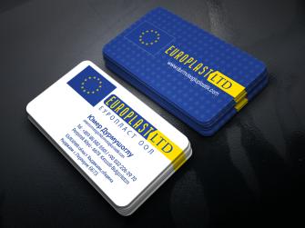 europlasltd, plastik hammadde üreticileri için düzenlenen kartvizit çalışmaları