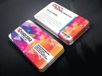 Renkli Fotokopi, Kırtasiyeler için düzenlenmiş kabartma laklı kartvizitler