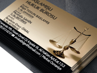 özel tasarım avukat kartvizitleri