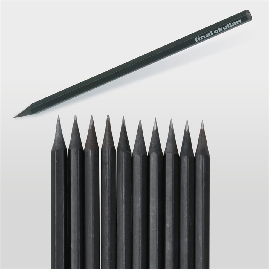 Latalı Siyah Köşeli Kurşun Kalem