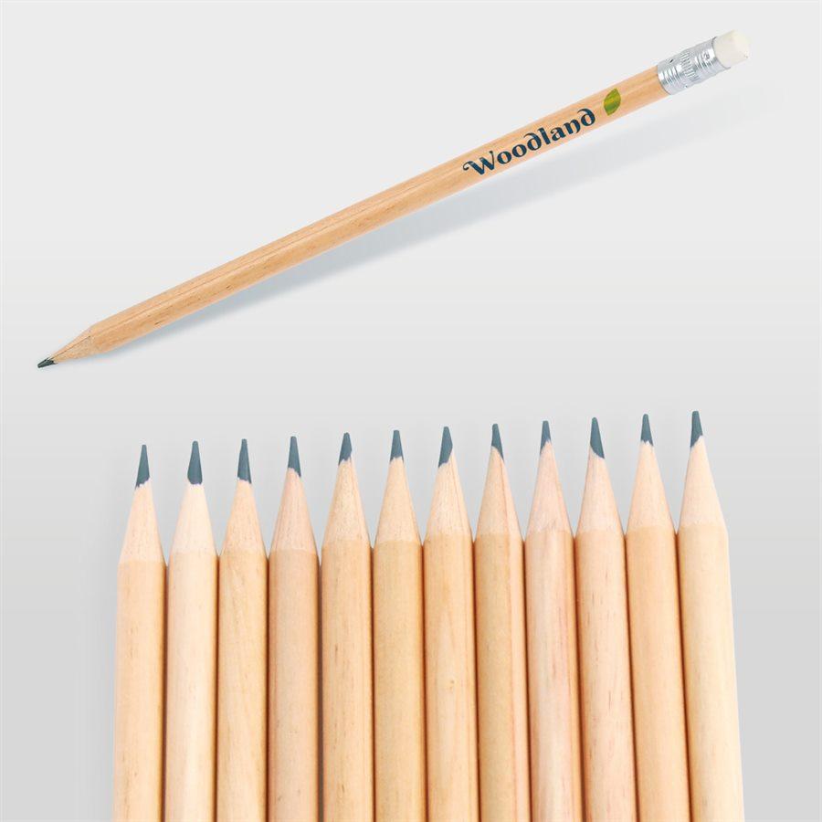 Yuvarlak Silgili Kurşun Kalem