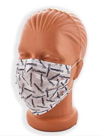 baskılı maske imalatı, kurumsal firmalara özel tasarımlı, maske