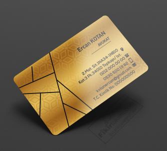 Altın Rengi Avukat Kartvizit