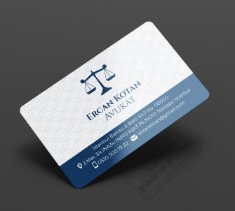 Şık Mavi Zeminli Avukat Kartvizit