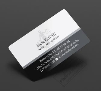 Siyah Beyaz Avukat kartvizitleri, Hukuk Bürolarına özel avukat kartvizit tasarımları