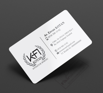 siyah beyaz avukat kartvizit