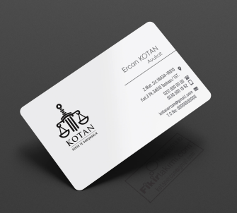 Koyu Mavi Avukat Kartvizit, özel altın yaldız kartvizit seçenekli