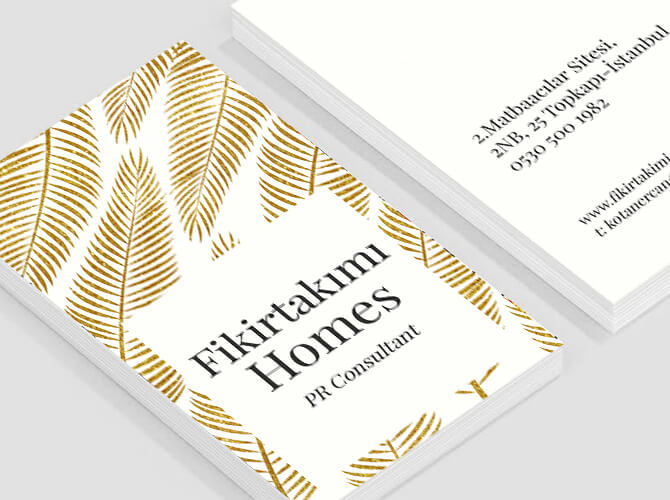 sıradışı kaliteli kartvizitler (500 adet)