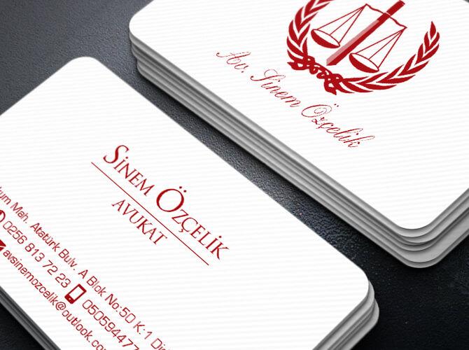 Hukuk Büroları için kartvizit örnekleri
