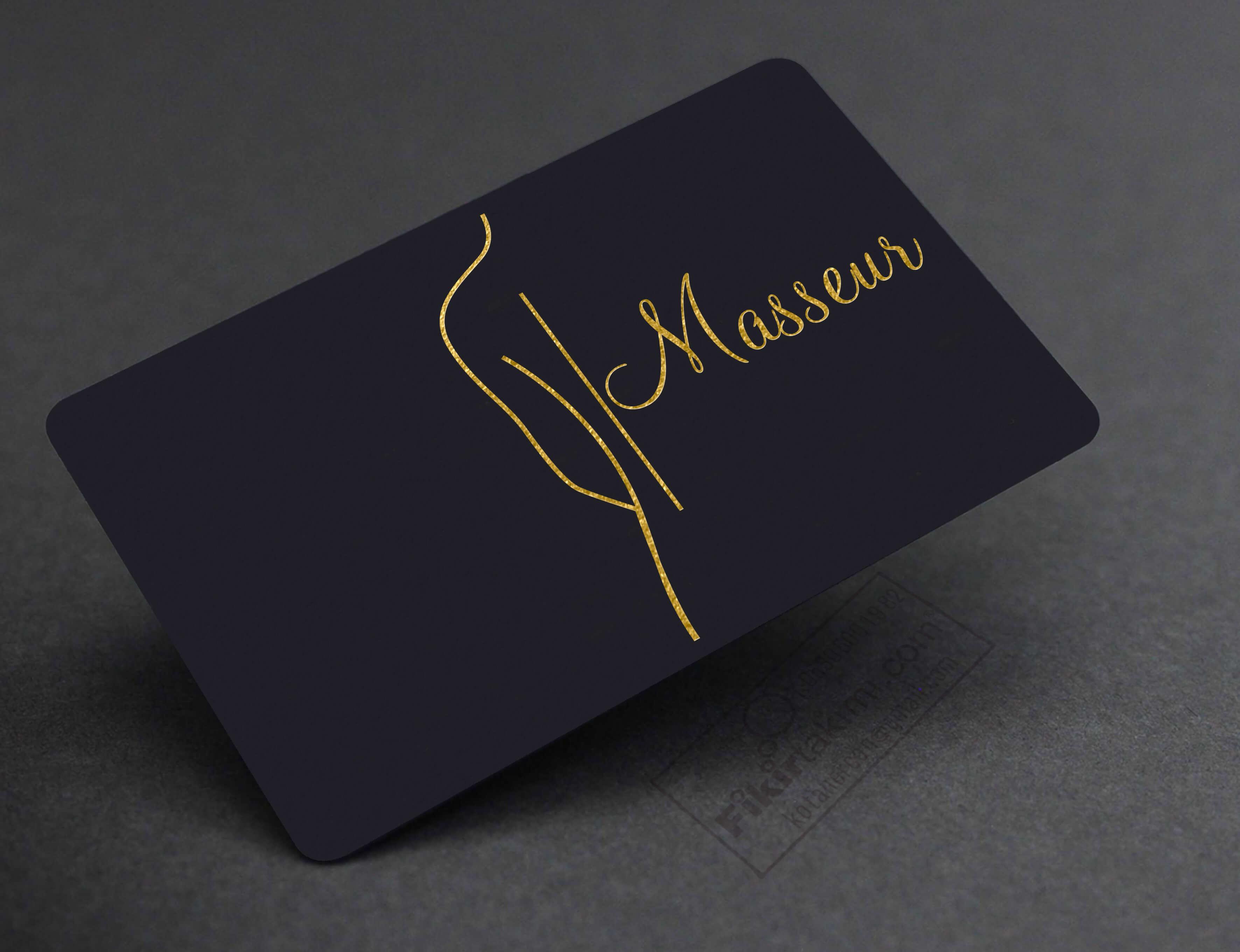 Masaj, Spa Kartvizit Baskı Modeli