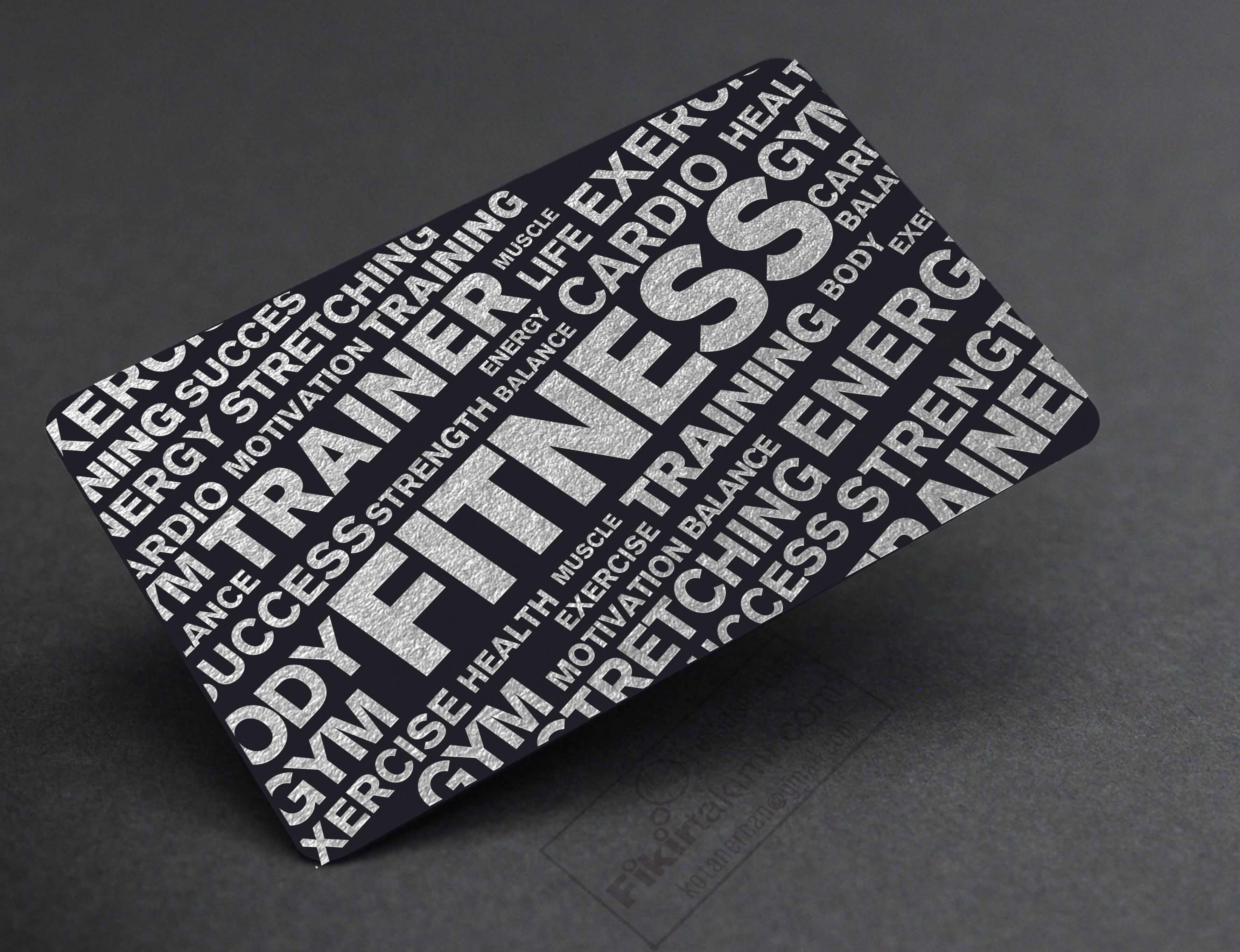 Fitness Eğitmen kartvizit