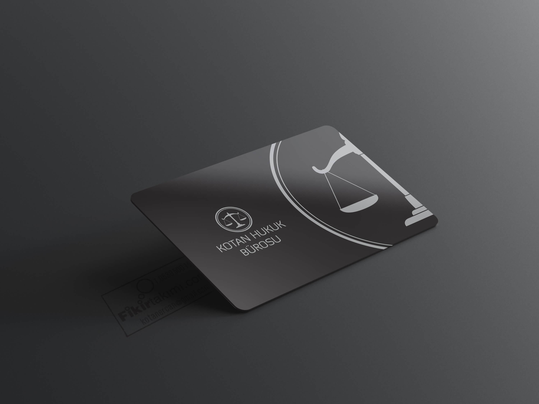 Siyah Gümüş Avukat Kartvizit