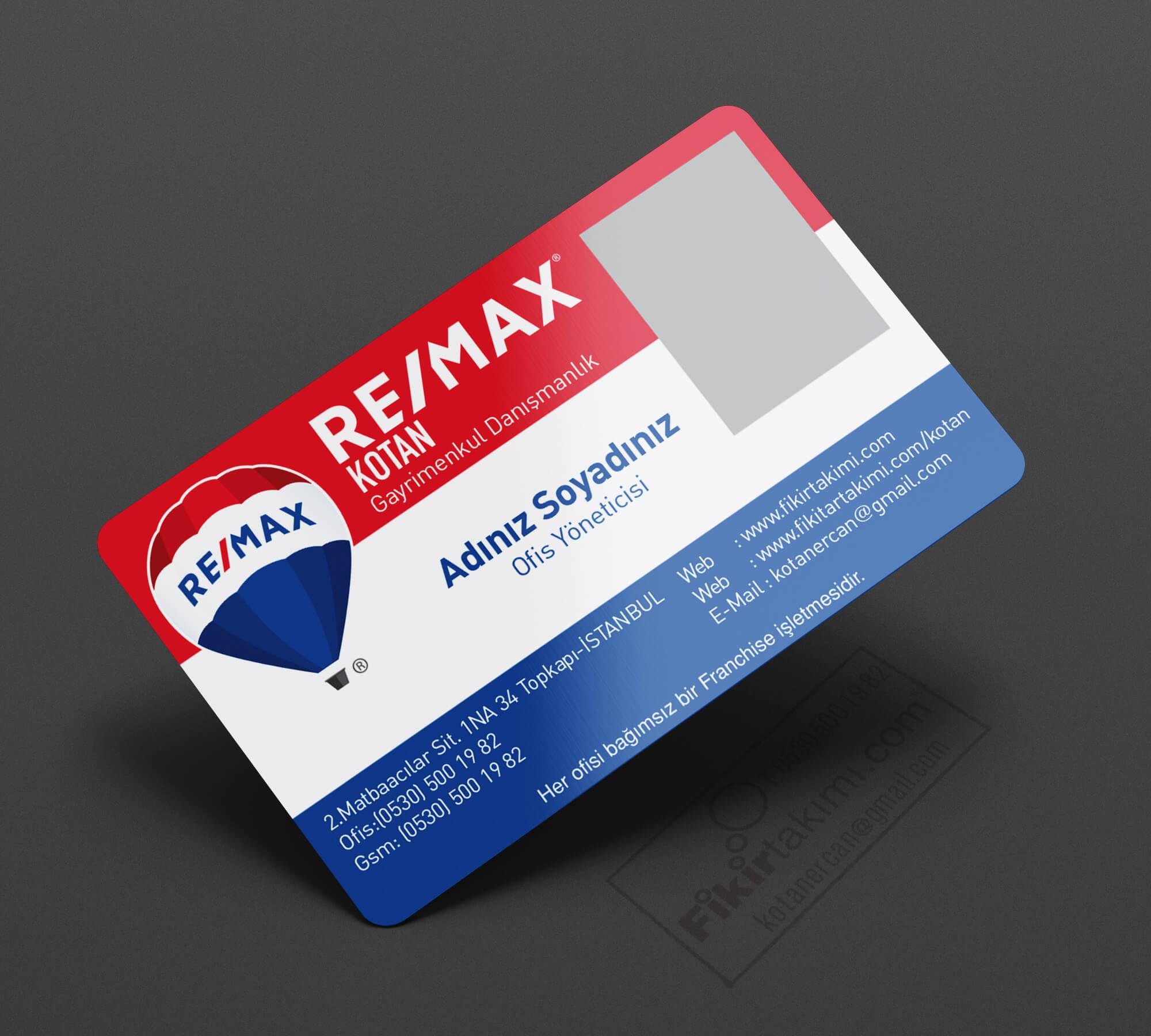 Remax Gayrimenkul Emlak Kartvizitleri